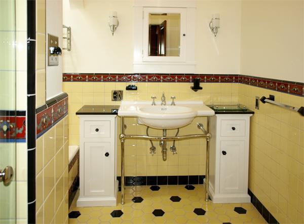 Tile Bathroom Vintage portfolio | karen highberger interior design inc.